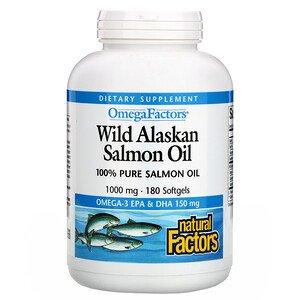 Natural Factors, Omega Factors, жир дикого аляскинского лосося